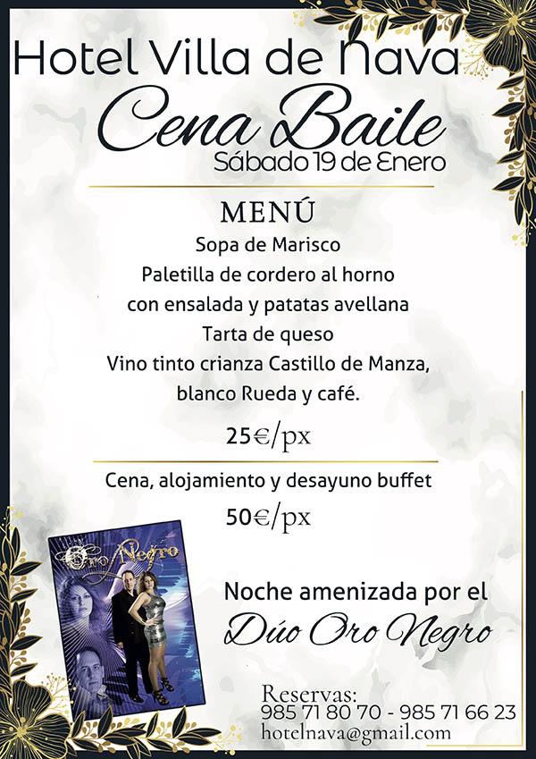 Cena baile en el Hotel Villa de Nava