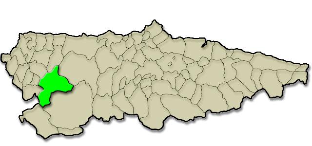 Situación municipio de Allande