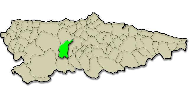 Mapa de situación. Pilotos MotoGP en Asturias, Belmonte de Miranda