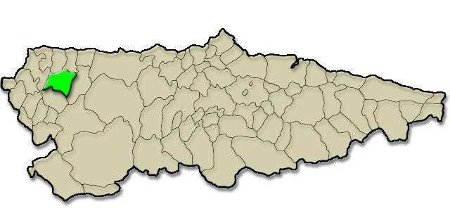 Mapa de situación. Movimiento asociativo y vecinal de Boal, Premio al Pueblo Ejemplar de Asturias 2014