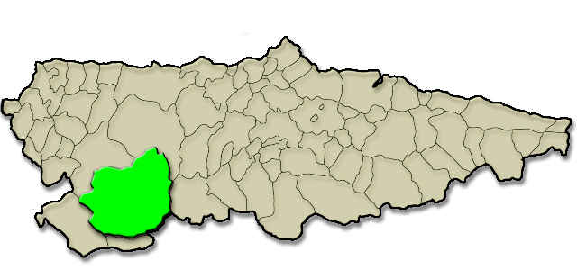 Mapa de situación. Parque Natural de las Fuentes del Narcea, Degaña e Ibias (Cangas del Narcea)