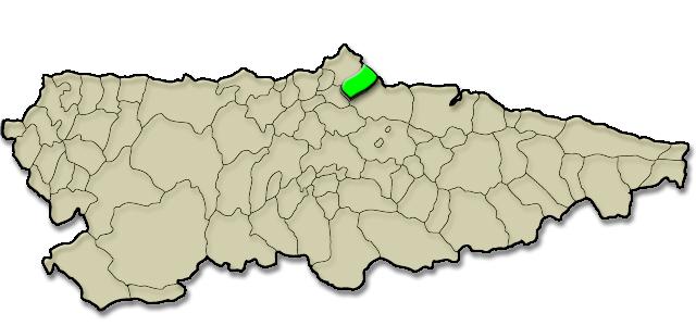 Mapa de situación. Candás