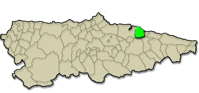 Situación municipio de Colunga