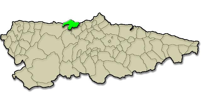 Situación municipio de Cudillero