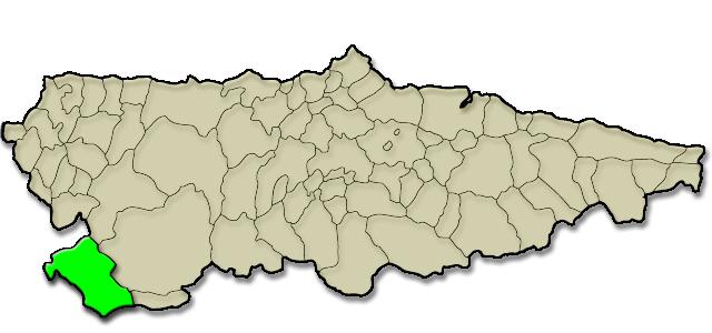 Situación municipio de Ibias