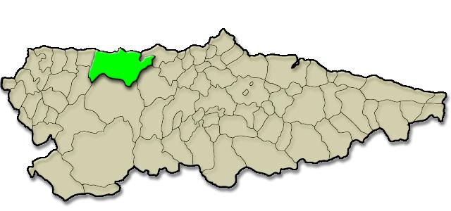 Situación municipio de Valdés