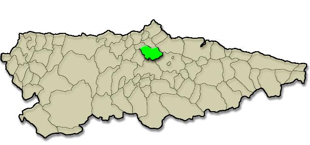 Mapa de situación. Campo de Golf La Morgal
