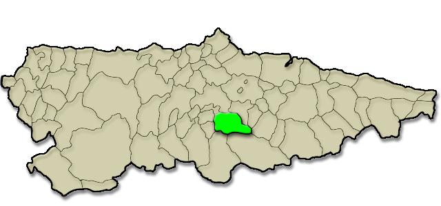 Mapa de situación. Retrospectiva de Llonguera 1994-2006