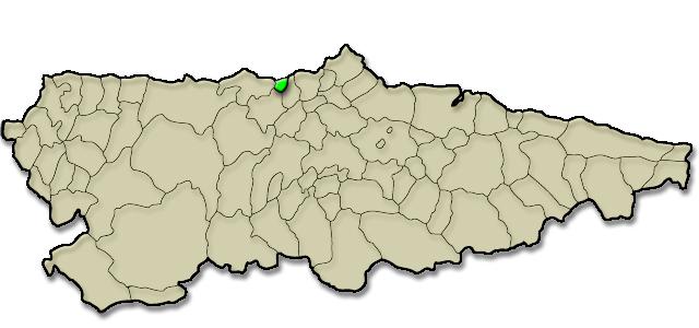 Mapa de situación. Playa de La Guardada