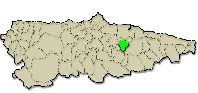 Mapa de situación. Casa rural Nel Solanu