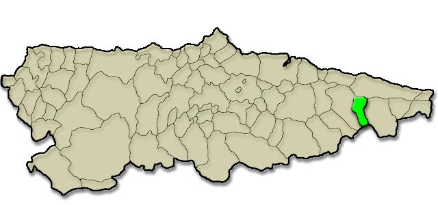 Mapa de situación. Apartamentos rurales Gamonedo