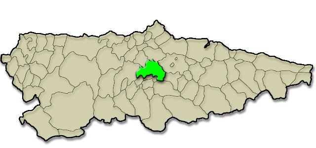Mapa de situación. Pasaje calle Uría, 12-14-16