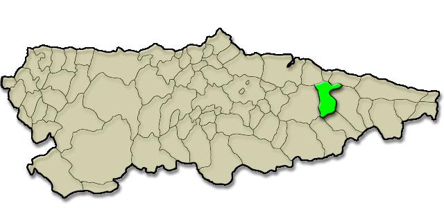 Mapa de situación. Apartamentos rurales La Calvera