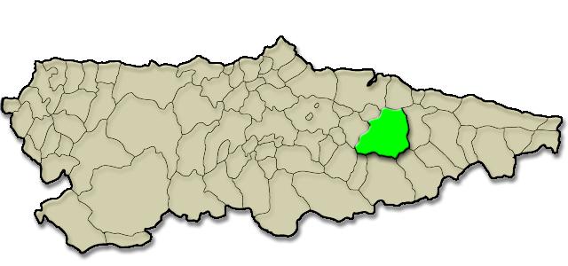 Mapa de situación. Feria de Abril de Infiesto