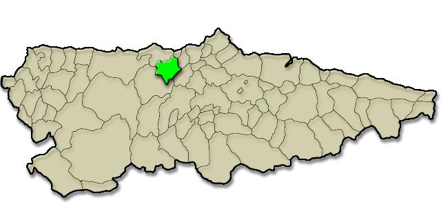 Mapa de situación. Cordero a la estaca (Agones - Pravia)