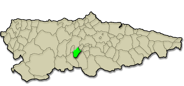 Mapa de situación. Mercado de la Alcordanza de Proaza