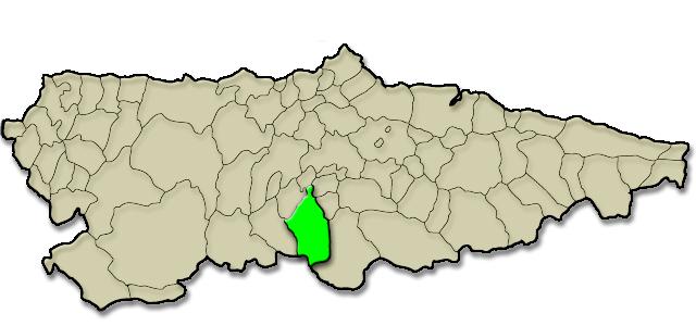 Mapa de situación. Casa de aldea Marcelina