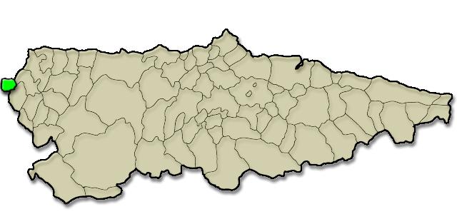 Mapa de situación. Comunidad vecinal de San Tirso de Abres, Premio al Pueblo Ejemplar de Asturias 2011