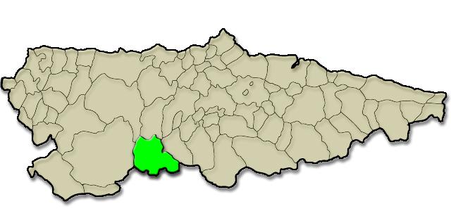 Mapa de situación. Bomberos de Asturias