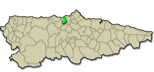 Mapa de situación. Apartamentos rurales Los Novales