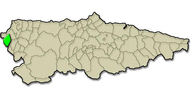 Situación municipio de Taramundi