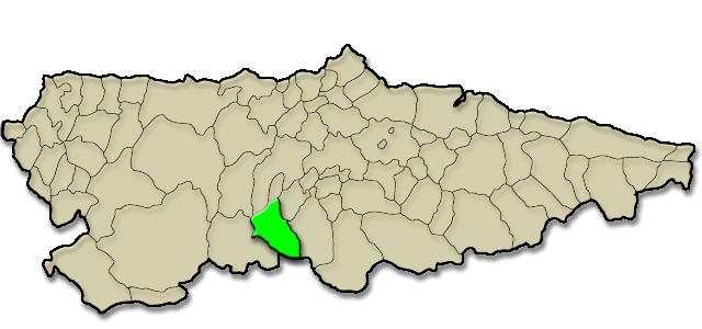 Mapa de situación. Apartamentos rurales La Escuela (Teverga)