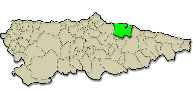 Mapa de situación. Hotel rural La Casona de Tresali
